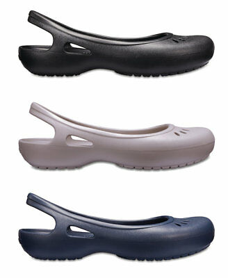 Crocs Womens Kadee Croslite Slip Ons Slingbacks Flat Shoes