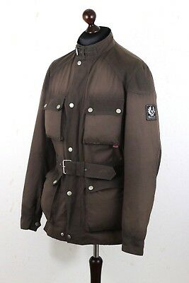 BELSTAFF Roadmaster Gold Label mens belted Motorcycle Waxed Jacket Sz XXL Brown
