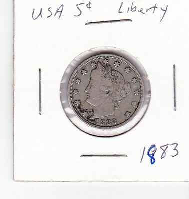 1883 United States 5 cents nickel