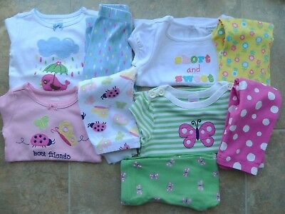 Gymboree Girl's 12-18 month spring lot - 2 outfits & 2 pajamas VGUC