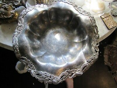 Large Art Nouveau Silverplate Bowl 12.5 Inches