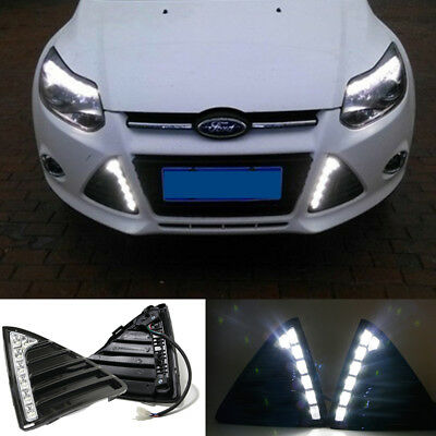 drl for ford focus 2012 2013 2014 led daytime running light fog lamp