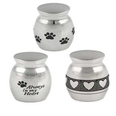Mini 3 Styles Urn Small Cremation Urn Silver Keepsake for Ashes Funeral Urn