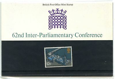 GB Presentation Pack #74, 1975, 62nd Inter-Parliamentary Conference MNH #C44591