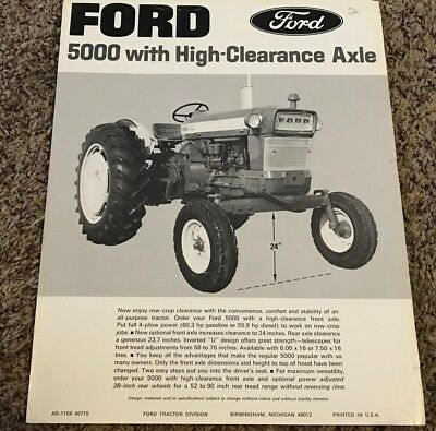 Ford 5000 with High-Clearance Axle Farm Tractor brochure