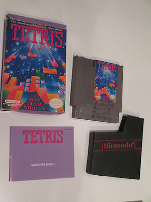 NES TETRIS Nintendo GAME 1980'S with Sleeve Box Booklet RELISTED
