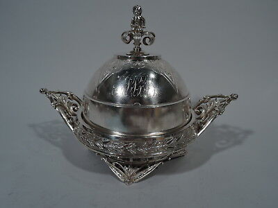 Wood & Hughes Butter Dish - Antique Aesthetic Bowl - American Sterling Silver