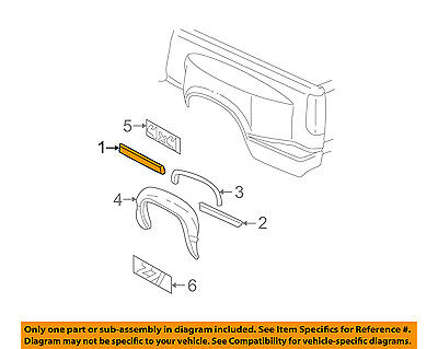 GM OEM Pick Up Box Bed-Body Side Molding Right 15740108