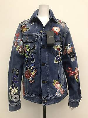 a57b2ddfde RARE SAINT LAURENT embroidery denim jacket unused item From JAPAN Free  shipping