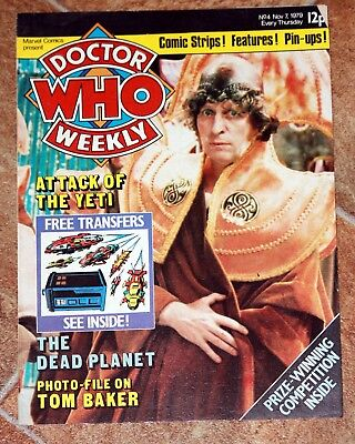 Dr Who Weekly - Issue 4 Nov 7 1979 - Tom Baker - Yeti - The Dead Planet