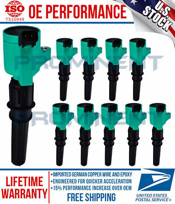 10 Pack High Performance Ignition Coil for 98-15 Ford F150 250 4.6L 5.4L DG508