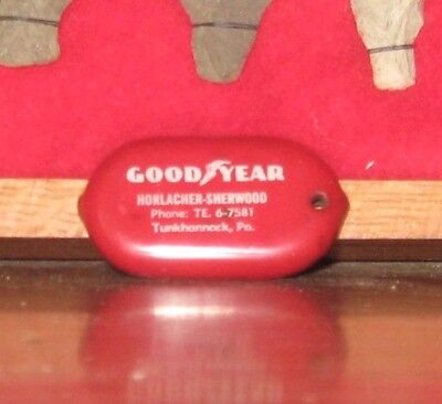 Vtg Good Year Tunkhannock PA Rubber Squeeze Coin Change Purse HORLACHER SHERWOOD