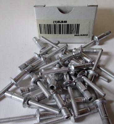 "25 All Aluminum Blind Pop Rivets 1/4"" Dia..080-.375 (3/8"") Grip Range Qty 25"