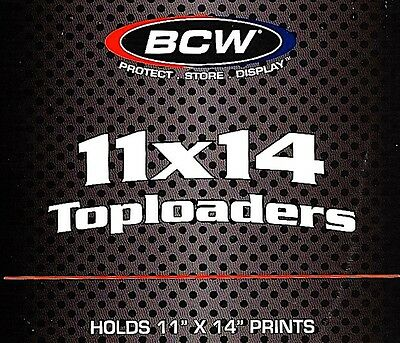 5 BCW 11X14 Top Load Holders Photo Document Print Rigid Plastic Toploader Menu