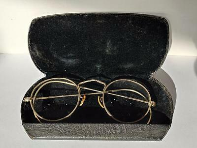 Vtg 1931 AO American Optical Cortland 1/10 12 K WGF Round Full Wire Eye Glasses