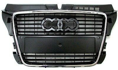 audi a3 8p calandre grille noir nid d 39 abeille sline 2005. Black Bedroom Furniture Sets. Home Design Ideas