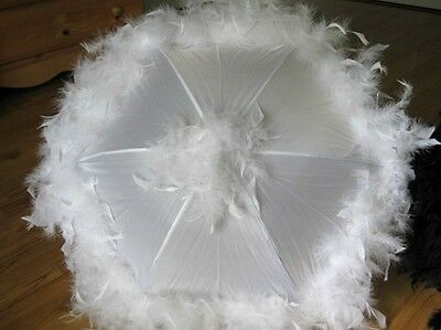 ONE Second Line Wedding Umbrellas New Orleans Feather Parasols Mardi Gras