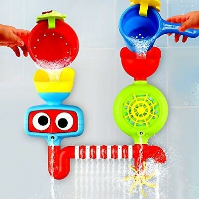 Baby Bath Toy - Waterfall Water Station With Two Stackable Cups By Playboom - -