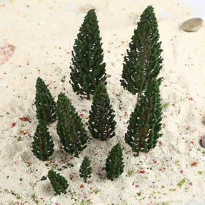 10pcs 1:50-1:400 O HO N Z Scale Layout Model Trees Train Wargame Scenery Diorama