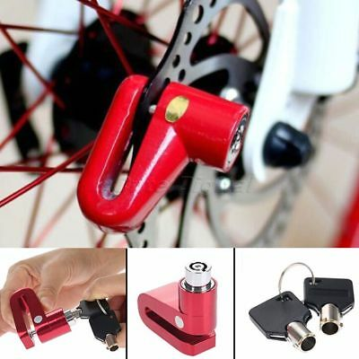 Motorcycle Anti-theft Security Brake Disc Wheel Rotor Lock with 2 Keys Set Red