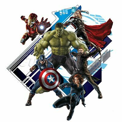 The Avengers Captain America Wall Sticker Movie Hero Kids Boys Room Decor Art