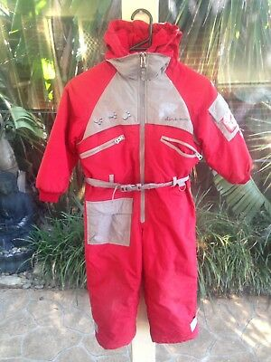 Childrens Kids Snowsuit Snow Suit Boys Or Girls Size 6 One Pc Great Condition