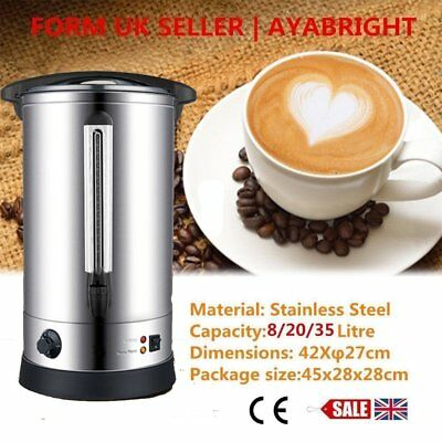 8/20/35L Electric Stainless Steel Catering Hot Water Boiler Tea Urn UK SELLER YU