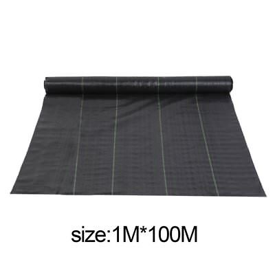 1M X 100M Weed Control Fabric Membrane Ground Cover Sheet Garden Landscape By