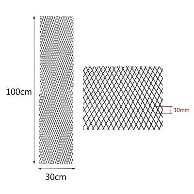 30x100cm Universal Black Aluminium Car Racing Race Honeycomb Mesh grille mesh BY