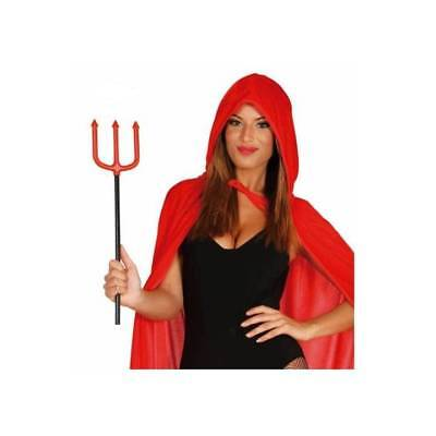 Small RED TRIDENT Plastic Fork 51 cm Halloween Weapon Fancy Dress Accessory