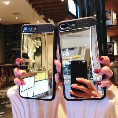 Luxury Aluminum Ultra-thin Mirror Shockproof Case Cover for iPhone 6 Plus 7 8 X