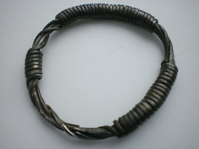 RARE ANCIENT Viking Silver Twisted Wire Bracelet Viking 9 -10 century AD  21 gr.