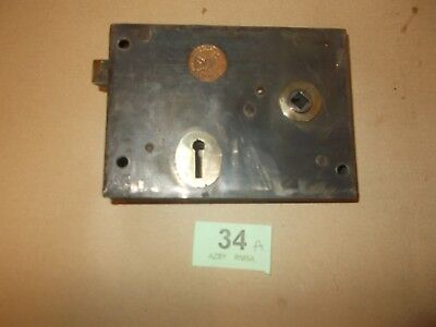 Vintage Antique Rim Lock / Latch Door Accessories Locks  34A