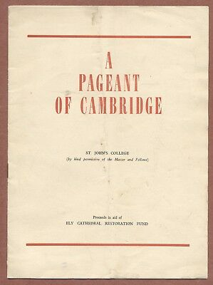 Pageant of Cambridge, St Johns College 1953, Saltmarsh, Phipps, Tickell    JX172