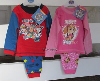 Paw Patrol Pyjamas Baby Toddler Girls Boys Character Sleepwear Set 6M - 2Y New