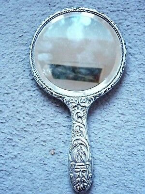 Ornate Sterling Silver Hand Mirror 1922