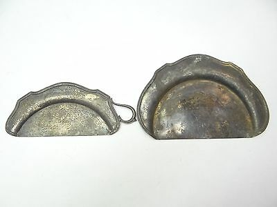 Antique Old F.B.R Rogers Brass Silverplate 0863 Crumb Catchers Silent Butler Pan