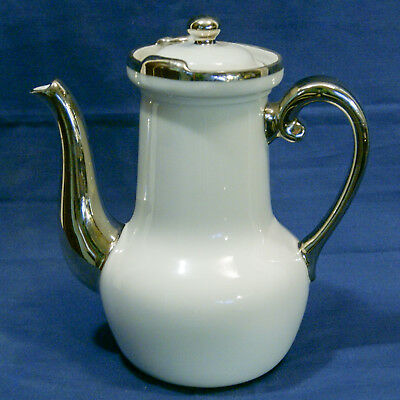 Theiere Tisaniere Aluminite Frugier Porcelaine a Feu Blanche Teapot  or Infusion