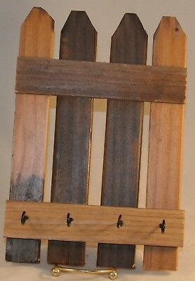 Reclaimed Barn Wood Key Holder Four Key Hooks #KH01001