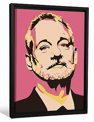 JP London Framed Bill Murray Tribute Andy Warhol Painting Gallery Wrap Canvas x