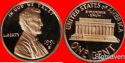 1991 S Lincoln Cent Deep Cameo Gem Proof