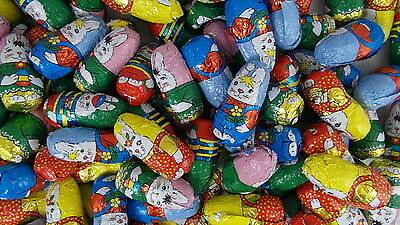 Easter Egg Hunt,100 Hollow Milk Chocolate Foil Easter Bunnies,1250 g, 60mm high