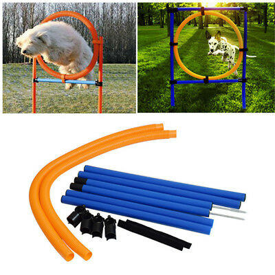 Dog Agility Set Jump Hoop Training Equipment Obedience Ring Show Obstacle Hurdle