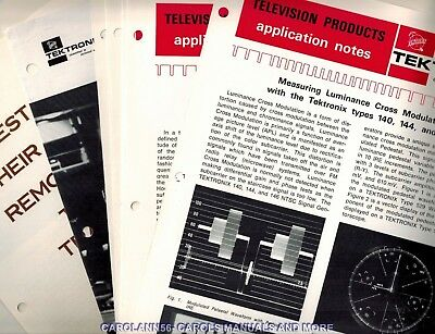 TEKTRONIX Lot Application Notes, Reference material, ect