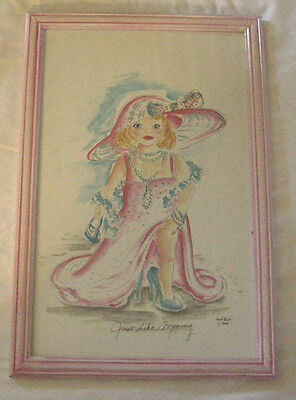 """Nursery Picture, """"Just like Mommy"""" By Fat Rat, Print, 1 out of 300, Signed, New"""