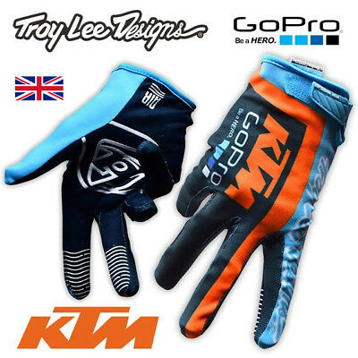 TLD, Troy Lee Design TEAM, KTM Go Pro Motocross GLOVES!!! Enduro, ATV FOX