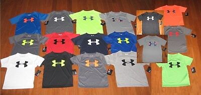 Under Armour Short Sleeve Shirt Boys Size 3T/4/5/6/7  Nwt