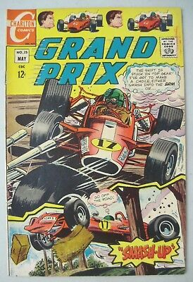 Grand Prix #25 May 1969 Charlton Comics Don Perlin Auto Racing
