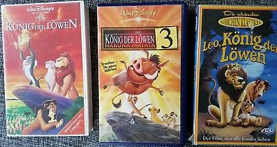 14 x walt disney vhs kassetten k nig der l wen dschungelbuch schneewittchen eur 10 00. Black Bedroom Furniture Sets. Home Design Ideas