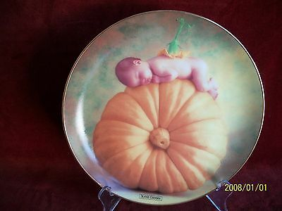 COUNTRY PUMPKIN  by ANNE GEDDES COLLECTORS PLATE